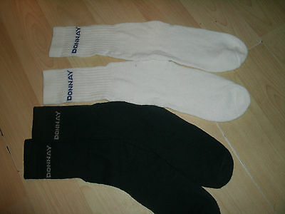 Two Pairs  Mens Donnay Golf Socks Black/white  Winter Type Size Uk 7---11