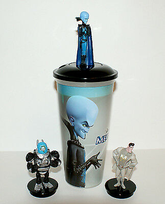 Cup topper figure Megamind Full Set + collectible cup