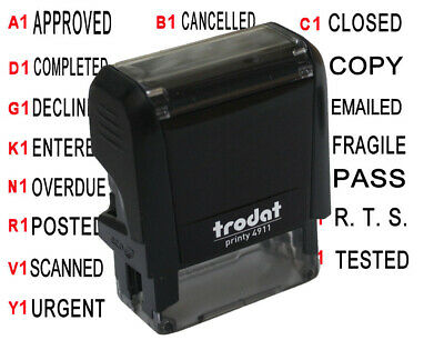 Trodat Self inking pre ink word rubber stamp business school company AU STOCK