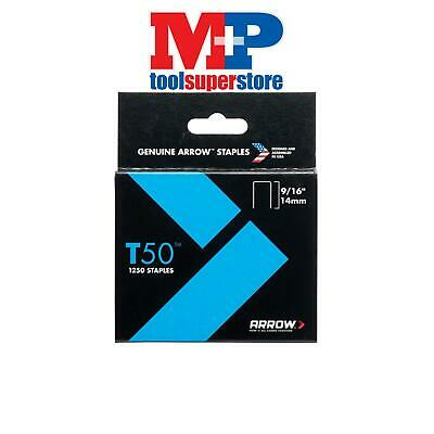 Arrow T50916S T50 Staples 14mm (9/16in) Box 1250