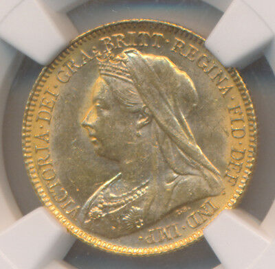 Great Britain GOLD Half Soverign 1900 - NGC MS 62