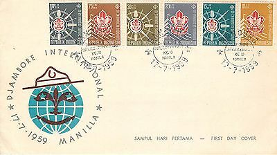 243 - Indonesia, FDC - Scout, 17/07/1959