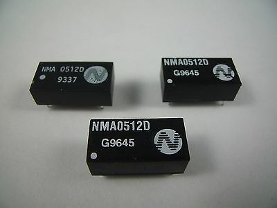3x Newport NMA0512D DC DC Converter 5V to 12V 1W PCB Mounting IC Power Supply