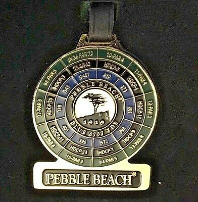 Pebble Beach ~ Pebble Beach Links Golf Bag Tag With Strap ~ Large ~ New!!
