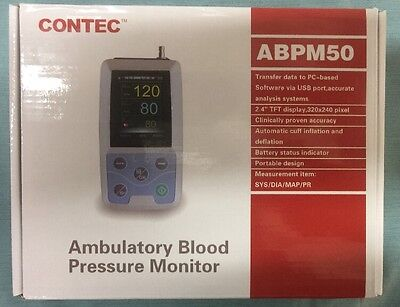 CONTEC Ambulatory Blood Pressure Monitor+Software 24h NIBP Holter ABPM50 NOB