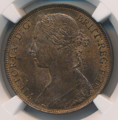 MAKE AN OFFER! -- Great Britain Victoria Penny 1892 - NGC MS 64 BN
