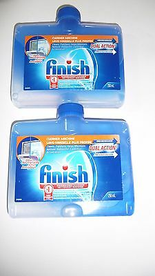 2 NEW Finish Dishwasher Detergent Cleaners Dual Formula Removes Grease Limescale