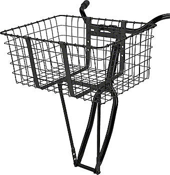 NEW Wald 157 Front Giant Delivery Basket Gloss Black