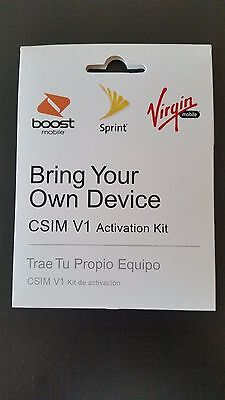 Sprint 3 in 1 SIM Card Bring Your Own Device Activation Kit Boost Virgin Mobile
