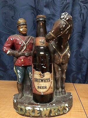 Rare/Vintage Drewrys  Beer Advertising - The Mounty and his Horse