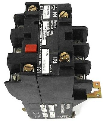 Westinghouse Mora1Aae Modular Overload Relay Model: A, Style: 1373D02G35
