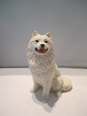 Samoyed sitting pup dog figure Castagna hand made in Italy new