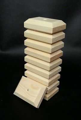 "10 x QUALITY PINE FLAT FENCE POST CAPS 3"" x 2"" x 1"" ~TO SUIT 2"" x 1"" POSTS"