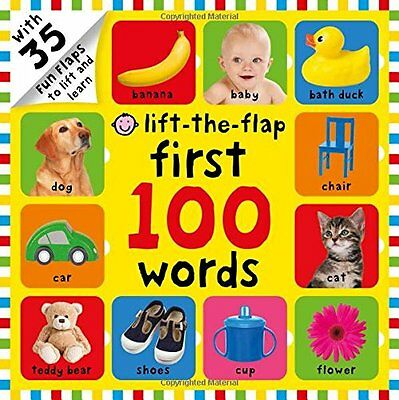 First 100 Words Children Books Early Learning Lift-Flap Toddlers Baby Kids Gift