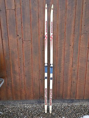 """A Very Interesting Vintage Wooden 77"""" Long Skis Great for Decoration"""