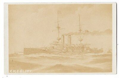 Early Post Card, Ships, H M S  Glory,  RP