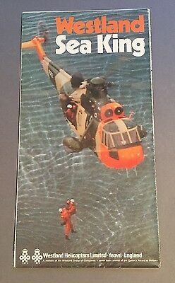 Westland Sea King Helicopter Fold Out Manufacturers Sales Brochure 1977