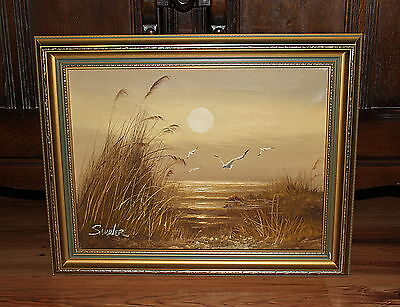 Beautiful Oil Painting on Canvas, Seascape II, Framed, Signed