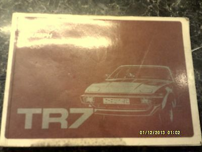Triumph TR7 Owners Handbook book In used condition free uk postage