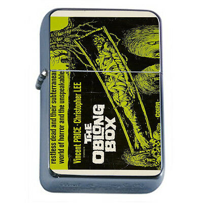 Vintage Poster D74 Windproof Dual Torch Lighter The Oblong Box Movie Poster