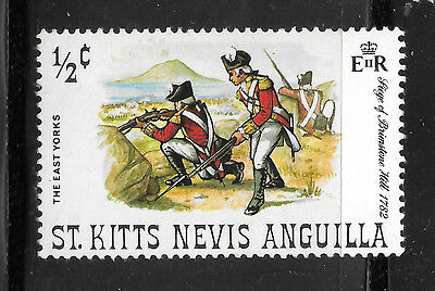 St. Kitts Nevis Anguilla - 1/2c The East Yorks - Siege of Brimston Hill 1782