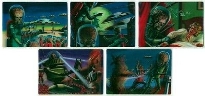 Mars Attacks Heritage Complete 5 Card Lenticular Chase Set