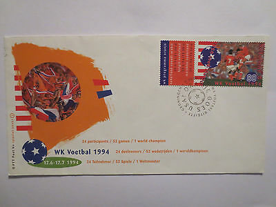 Holland Netherlands 1994 Fifa Football World Cup In Usa Postal Cover With Stamps