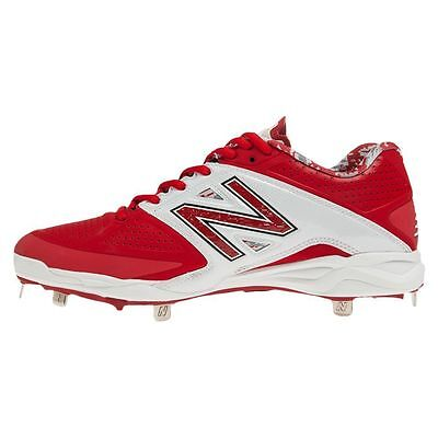 New Balance 4040 Metal Low Cut L4040AR2 Baseball Cleats(Red/White)