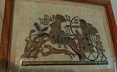 Ancient Egyptian Nefertiti Handmade Papyrus Painting Egypt  has certificate