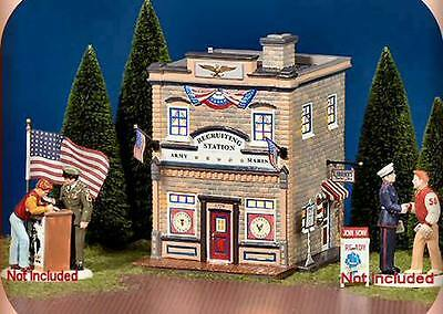 Department 56 Snow Village ARMED FORCES RECRUITING STATION 55081 BNIB Retired