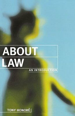 About Law by Tony Honore Paperback Book New