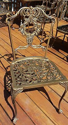 HAUSER 8 Pc TABLE & CHAIRS WROUGHT IRON Indoor Outdoor PATIO STUNNING
