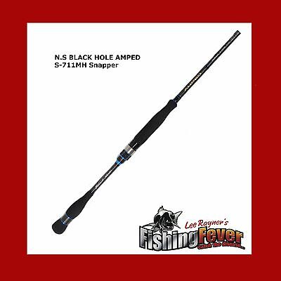 N.S Black Hole Amped S-711MH Snapper Spin Fishing Rod BRAND NEW At FISHING FEVER