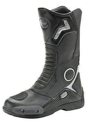 Joe Rocket 9 Black Ballistic Touring Motorcycle Boots