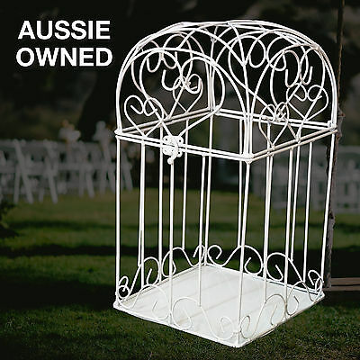 WEDDING WISHING WELL – ARCH SHAPE Gift Card Keeper Wedding Cage   FREE SHIPPING