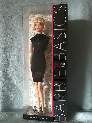 NEW Barbie Basics Doll | Model No. 9 - Collection 1 | 2009 Black Label | NIB