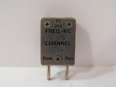 (1) Stand. Piezo 7275 KHz / 7.275 MHz FT-243 Crystal for 40 Meter Ham Radio