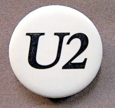 1980 Island Records U2 promotional use only pinback button