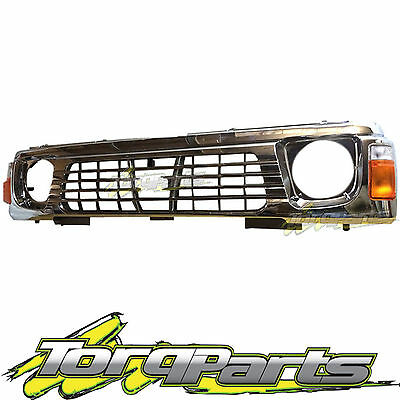 Chrome Grille & Indicators Suit Nissan Gq Patrol 94-97 Series 2 Y60 Grill 4Wd