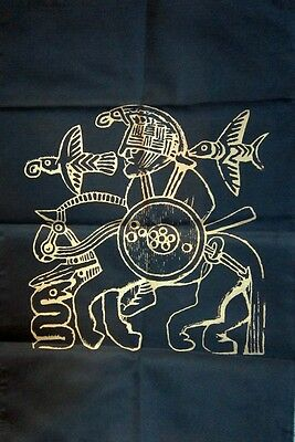 ODIN WITH HORSE ALTAR CLOTH -  BANNER NORSE Wicca Pagan Witch Goth COTTON