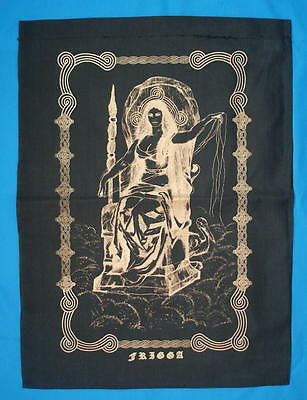 FRIGGA WITH HERON ALTAR CLOTH -  BANNER NORSE Wicca Pagan Witch Goth COTTON
