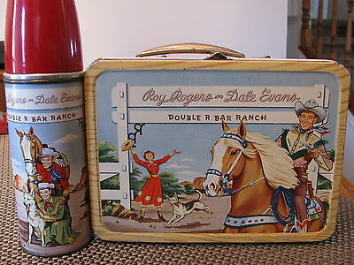 Roy Rogers Vintage 1950's Western Lunch Box / Nice Condition