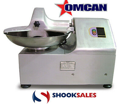"""Omcan 16999 Commercial Restaurant 8L Stainless Steel Bowl Cutter 1HP 18""""x4"""" NY"""