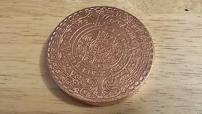 1 Coin Aztec Calendar - 1 Pound .999 Copper Uncirculated Round Bullion  Loc #B2