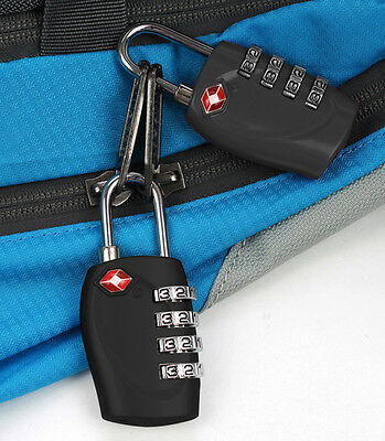 New 4 TSA Security Combination Digit Padlock for Travel Suitcase Luggage Bag