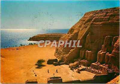 CPM Abou Simbel Rock Temple of Ramses ii Partial view of the Gigantic statues