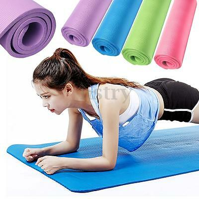 183x61x1.5cm Natte Tapis Exercice Yog Pilates Sol Gym Fitness Sport Musculation