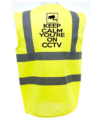 Keep Calm Youre On Cctv  Horse Riding Hivis Safety Equestrian High Viz Waistcoat