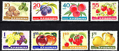 Romania 1963 Fruits Complete Set of Stamps  MNH