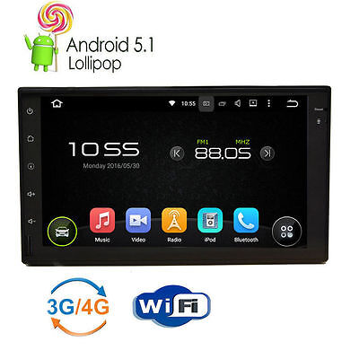 """New 7"""" Touchscreen Android Car Stereo Player/Radio/2DIN GPS Navigation Bluetooth"""